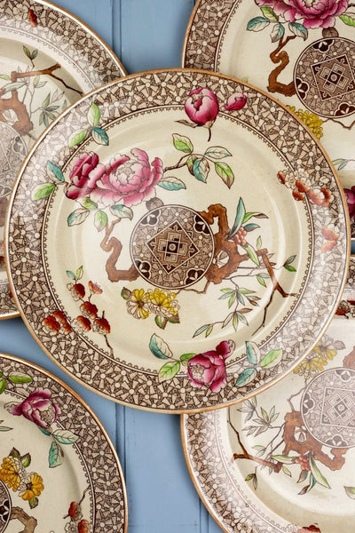 Antique Brownfield & Sons Dinner Plates - Set of 6