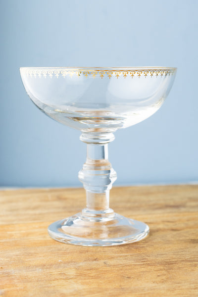 Golden Champagne Coupes - Set of 2