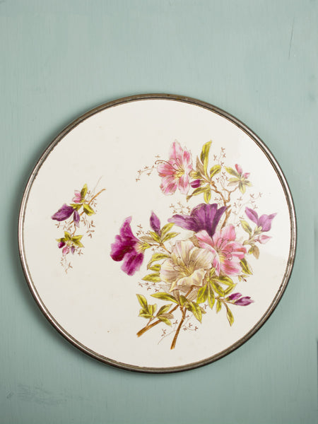 Vintage Azelea Floral Serving Tray