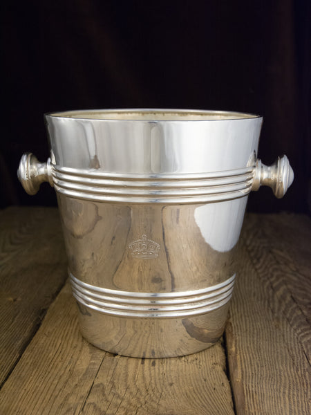 Vintage Silverplate King's Crown Champagne Bucket