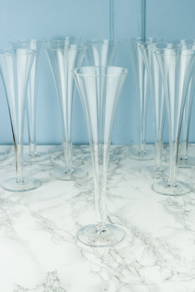 Vintage Champagne Flutes - Set of 11
