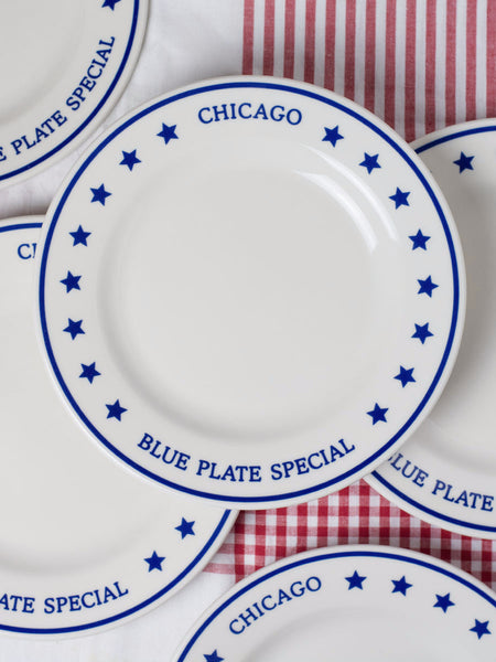 Chicago Blue Plate Special Dinner Plate