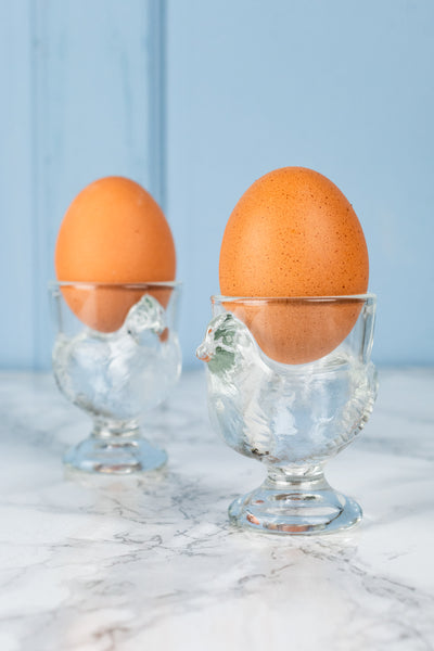 Glass Chick Egg Cup - Pair