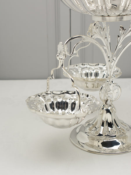 Vintage Silverplate County Hotel Centerpiece Epergne