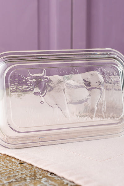 French Cow Butter Dish