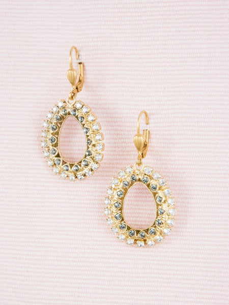 Crystal Open Teardrop Earrings
