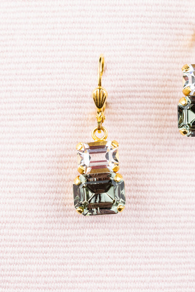 French Double Crystal Earrings