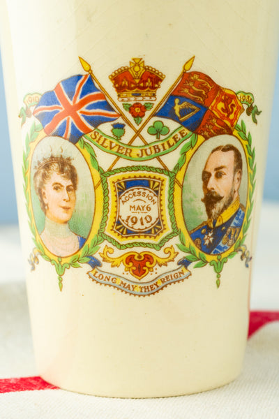 Vintage King George V and Queen Mary 1935 Silver Jubilee Tumbler
