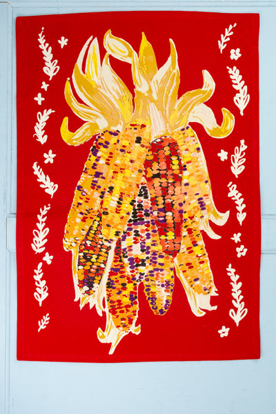 Indian Corn Tea Towel