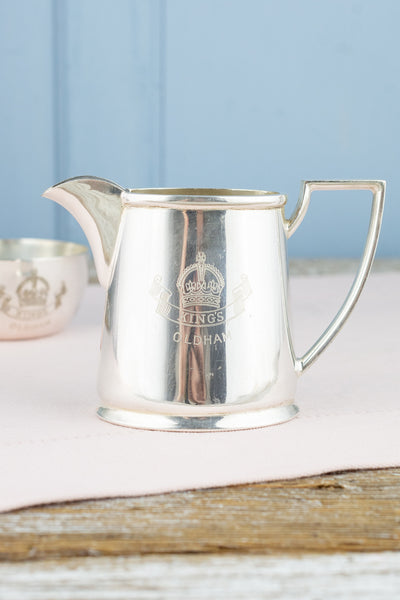Vintage Silverplate King's Oldham Creamer and Sugar Bowl