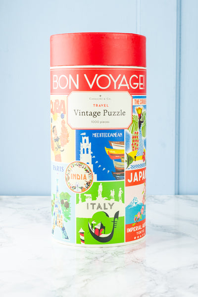1000-Piece Bon Voyage Travel Jigsaw Puzzle