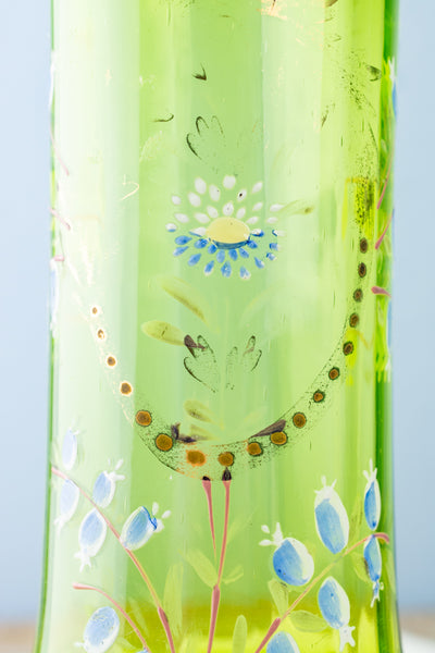 Antique Hand-Blown Tall Glass Vase