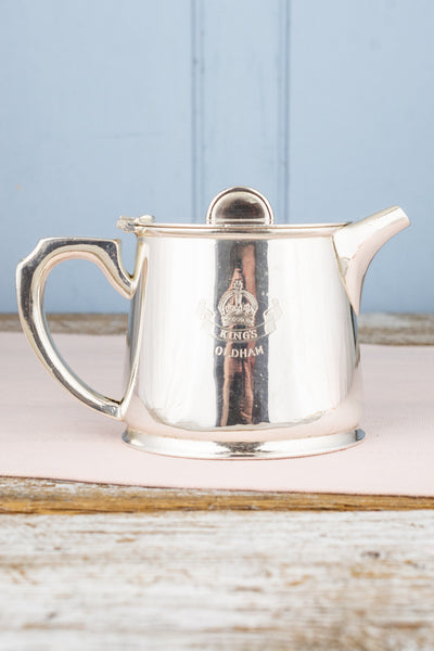 Vintage Silverplate King's Oldham Teapot