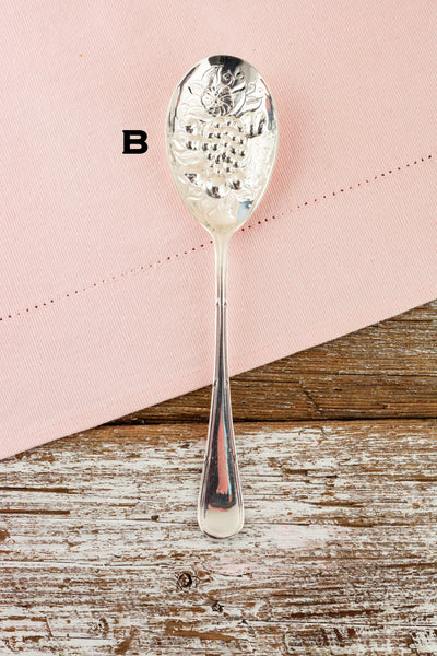 Antique Silverplate Berry Serving Spoon