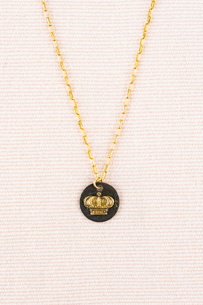 Vintage Gold Filled Chain with Crown Charm