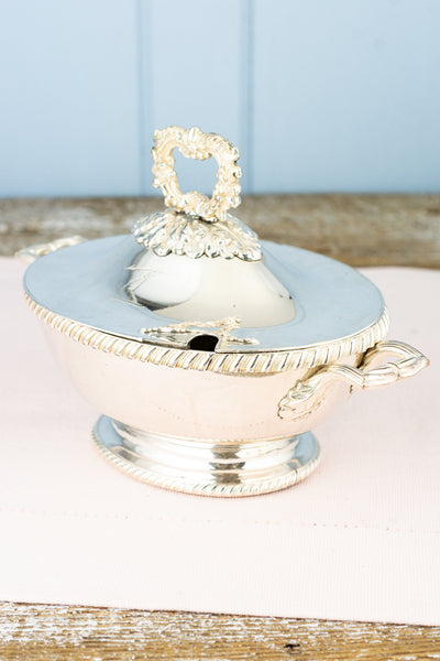 Antique Silverplate Sauce Tureen