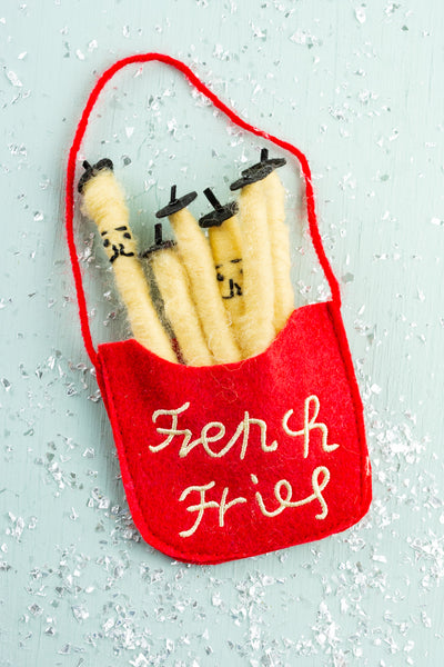 Felt French Fries Ornament