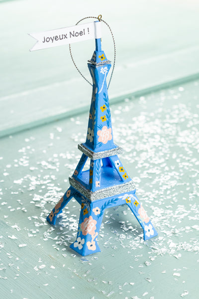 Floral Eiffel Tower Ornament