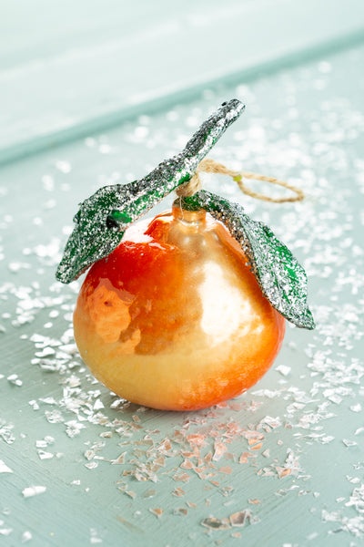 Glass Tangerine Ornament