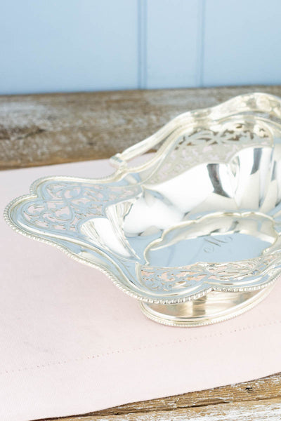 Antique Silverplate Cake Basket