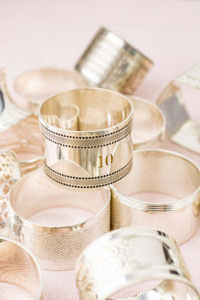 Vintage Silverplate Mix & Match Napkin Rings