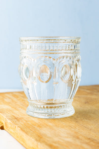 Pressed Glass Tumblers - Set of 4