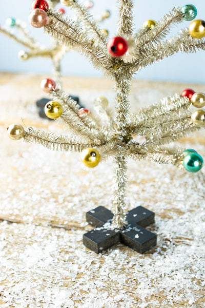 Tinsel Tree Trio