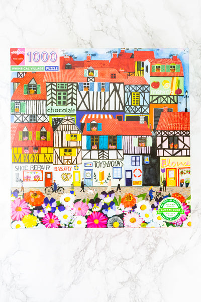 "1000-Piece ""Whimsical Village"" Jigsaw Puzzle"