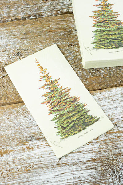 Spruce Tree Paper Dinner Napkins - Pack of 20