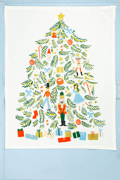 Nutcracker Christmas Tree Tea Towel