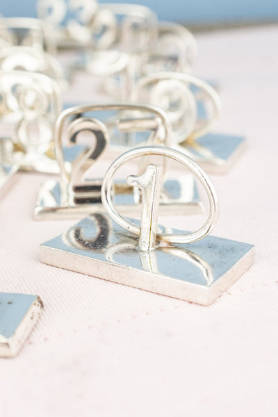 Vintage Silverplate Table Numbers