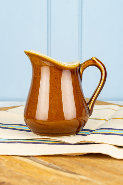 Vintage French Stoneware Cream Pitcher