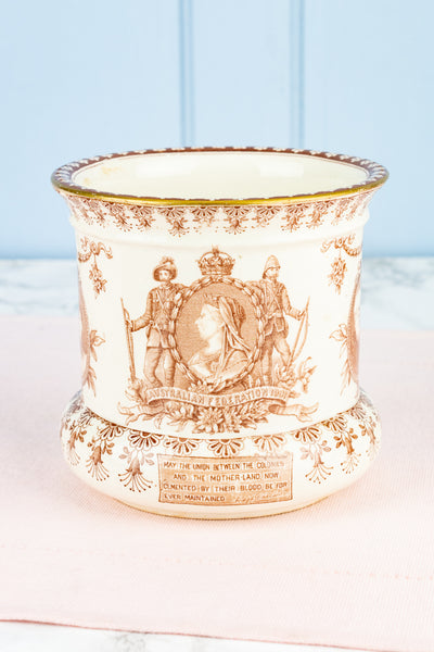 Antique 1901 Australian Federation Cachepot