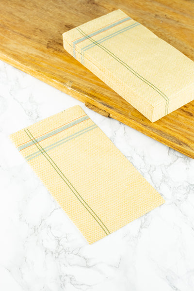 French Tea Towel Paper Dinner Napkins - Pack of 20