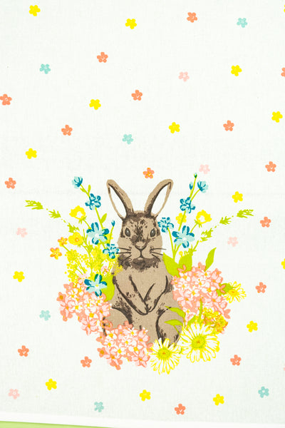 Flower Patch Bunny Tea Towels - Set of 2