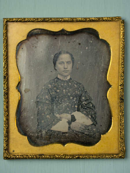 Antique Daguerreotype Framed Portrait - Young Woman