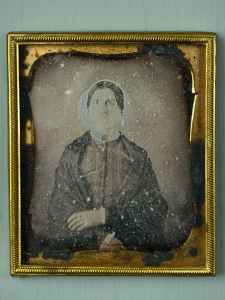 Antique Daguerreotype Framed Portrait - Woman