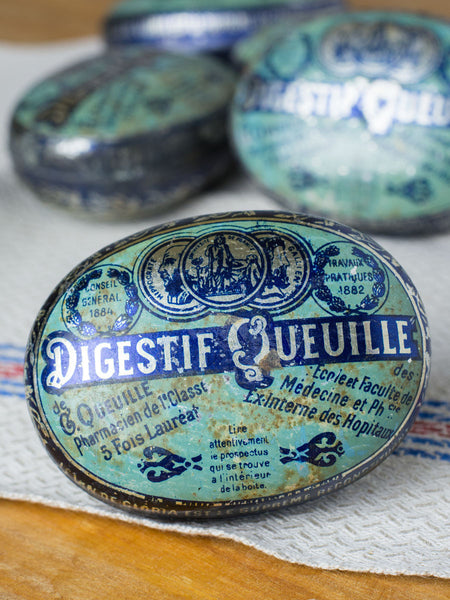 Antique French Digestif Queuille Tins