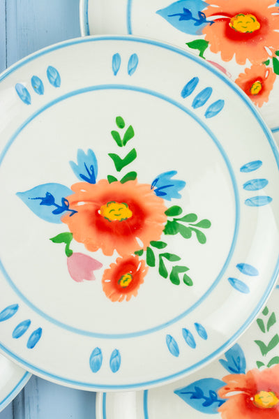 La Dolce Vita Floral Appetizer Plate  - Set of 4