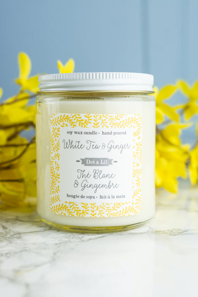 Dot & Lil Candle - White Tea and Ginger