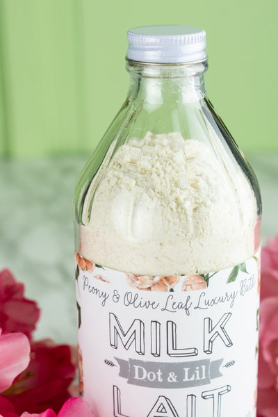 Dot & Lil Milk Bath - Peony and Olive Leaf