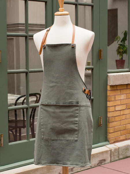 Dutch Canvas and Leather Utility Apron