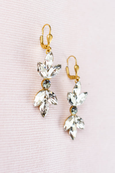 French Marquise Cut Crystal Drop Earrings