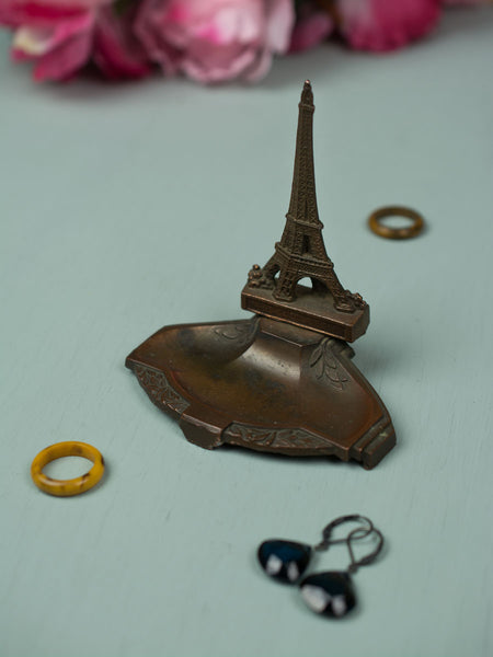 Vintage Copper Eiffel Tower Ashtray
