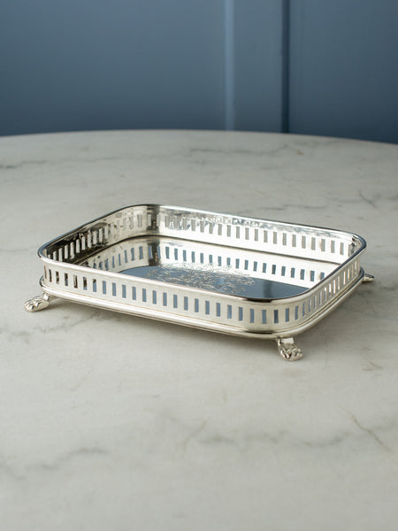 Small Silverplate Gallery Tray