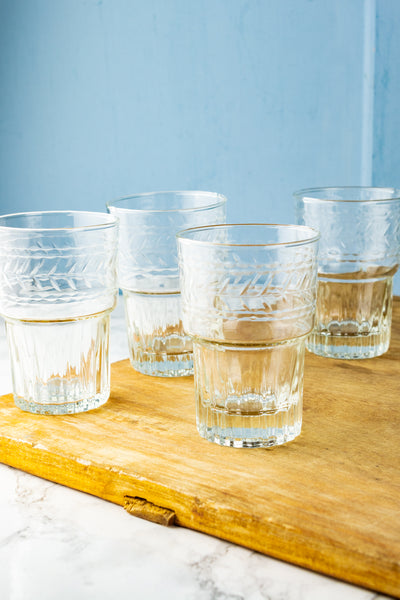 Etched Stacking Tumblers - Set of 4