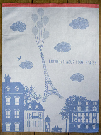 Moutet Eiffel Tower Balloon Tea Towel