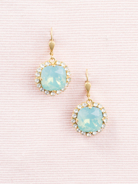 French Cushion Cut Crystal Earrings
