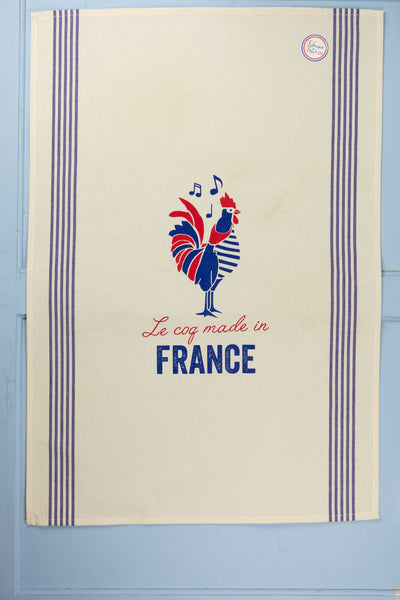 French Rooster Tea Towel