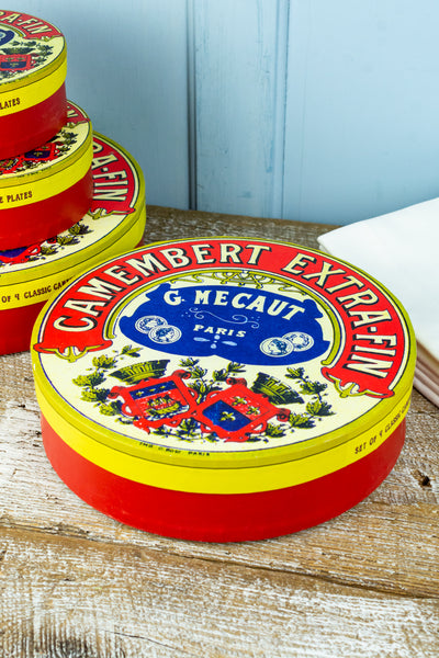 French Camembert Cheese Plates - Set of 4